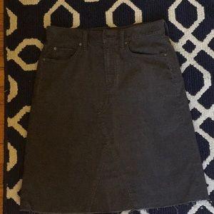 GAP 1969 Grey corduroy skirt